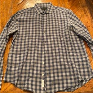 Rag and bone plaid button down in size Large